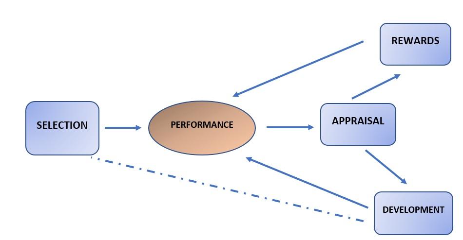 Fomburn's human resource cycle model (Hendry & Pettigrew, 1990)