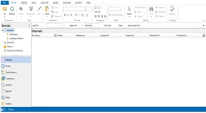 source window and menu in Nvivo