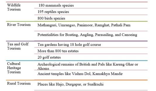 Assam's ecotourism segments