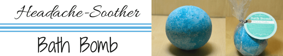 headache soother bath bomb etsy