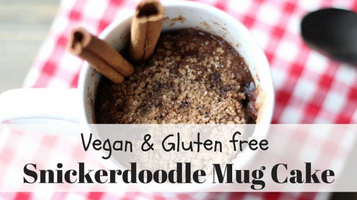 Snickerdoodle mug cake (vegan and gluten free)