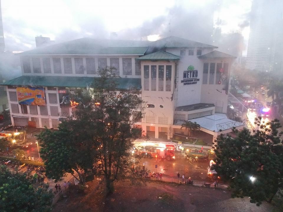 PHOTOS: Fire at Metro Ayala Center Cebu Aerial View