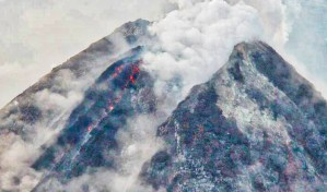 PHOTOS: Mayon Volcano Crater Aerial Inspection January 17, 2018