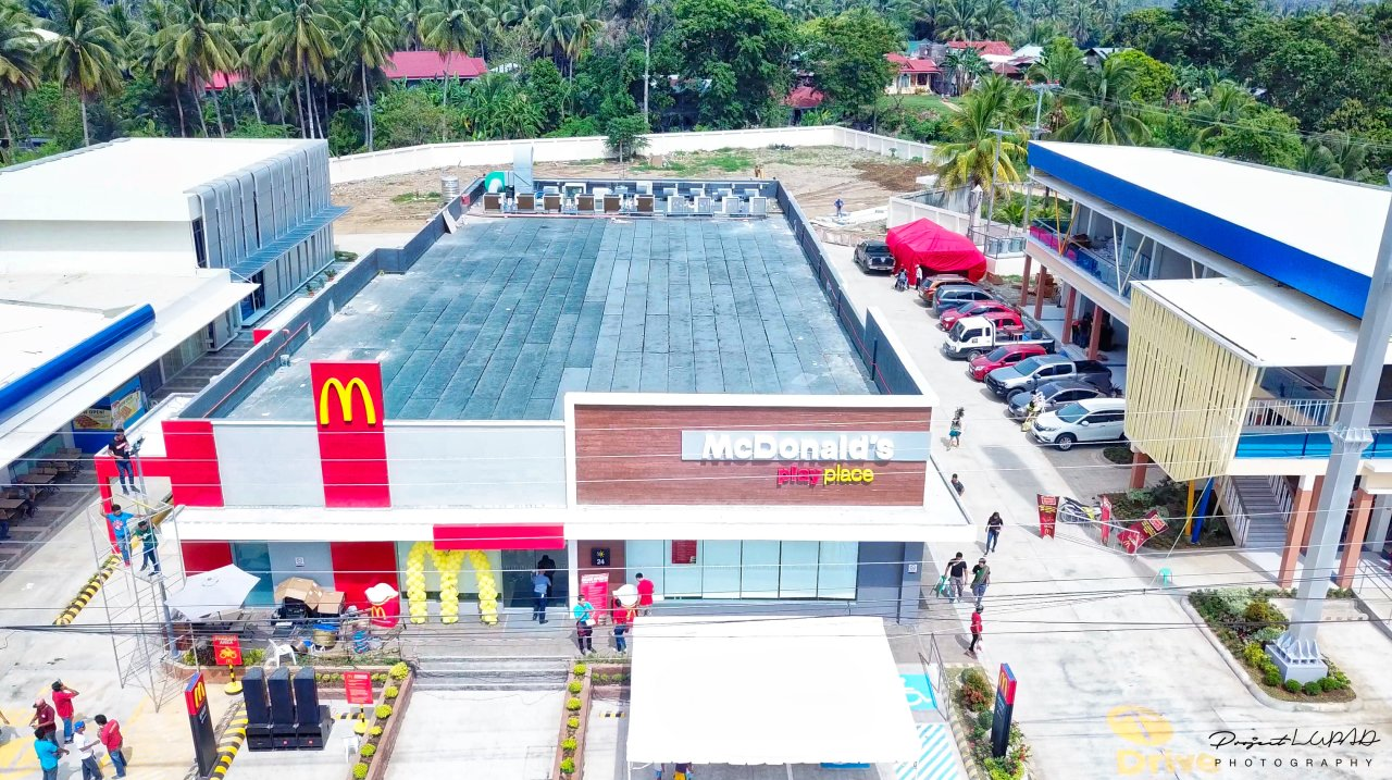 Aerial view of McDonald's El Salvador during the opening