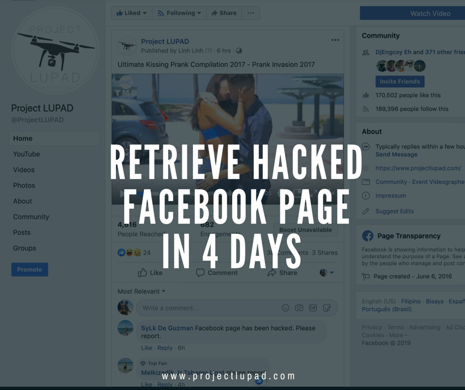 How We Retrieve Our Hacked Facebook Page in 4 Days