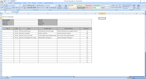 Piano per testing agile - Agile Project Management su Excel