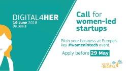 Digital4Her: opportunità per tech-startup gestite da donne