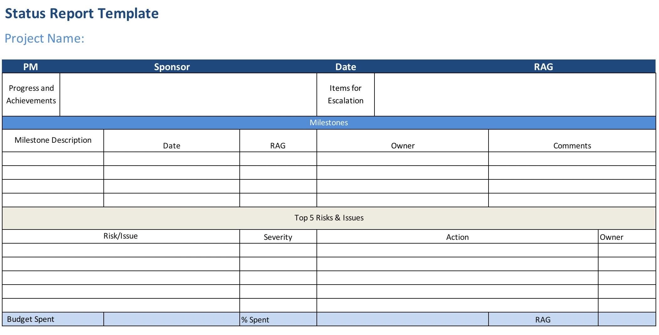 Production report is a best way to track activities about film production on daily basis and sometimes is prepared on weekly or monthly basis. Project Status Report Free Excel Template Projectmanager Com