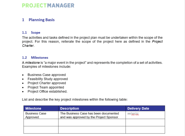 Will your family be taken care of? Project Plan Template For Word Free Download Projectmanager Com
