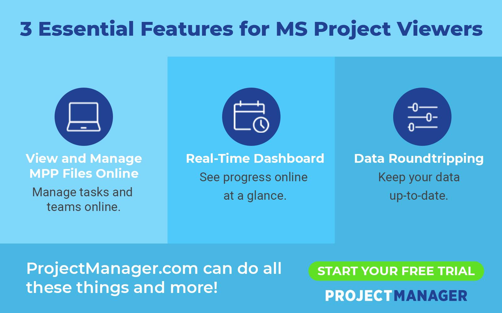 3 Funciones esenciales para los visores de MS Project