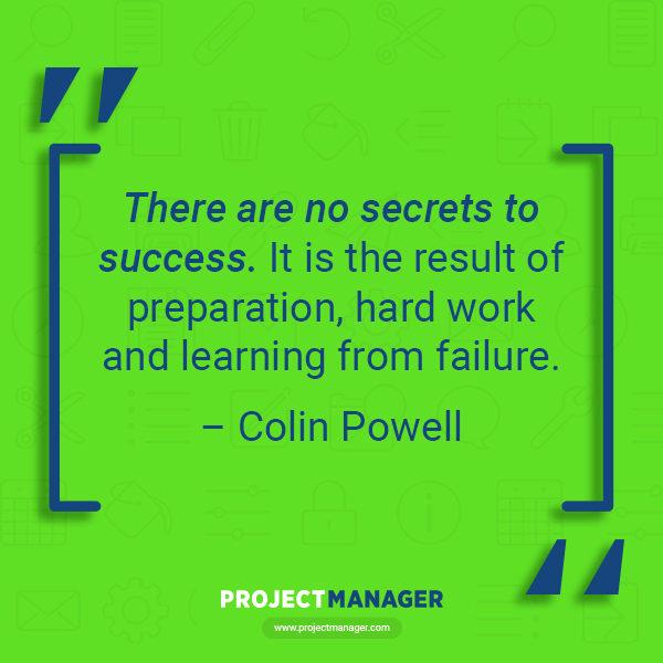 Cita de negocios de Colin Powell