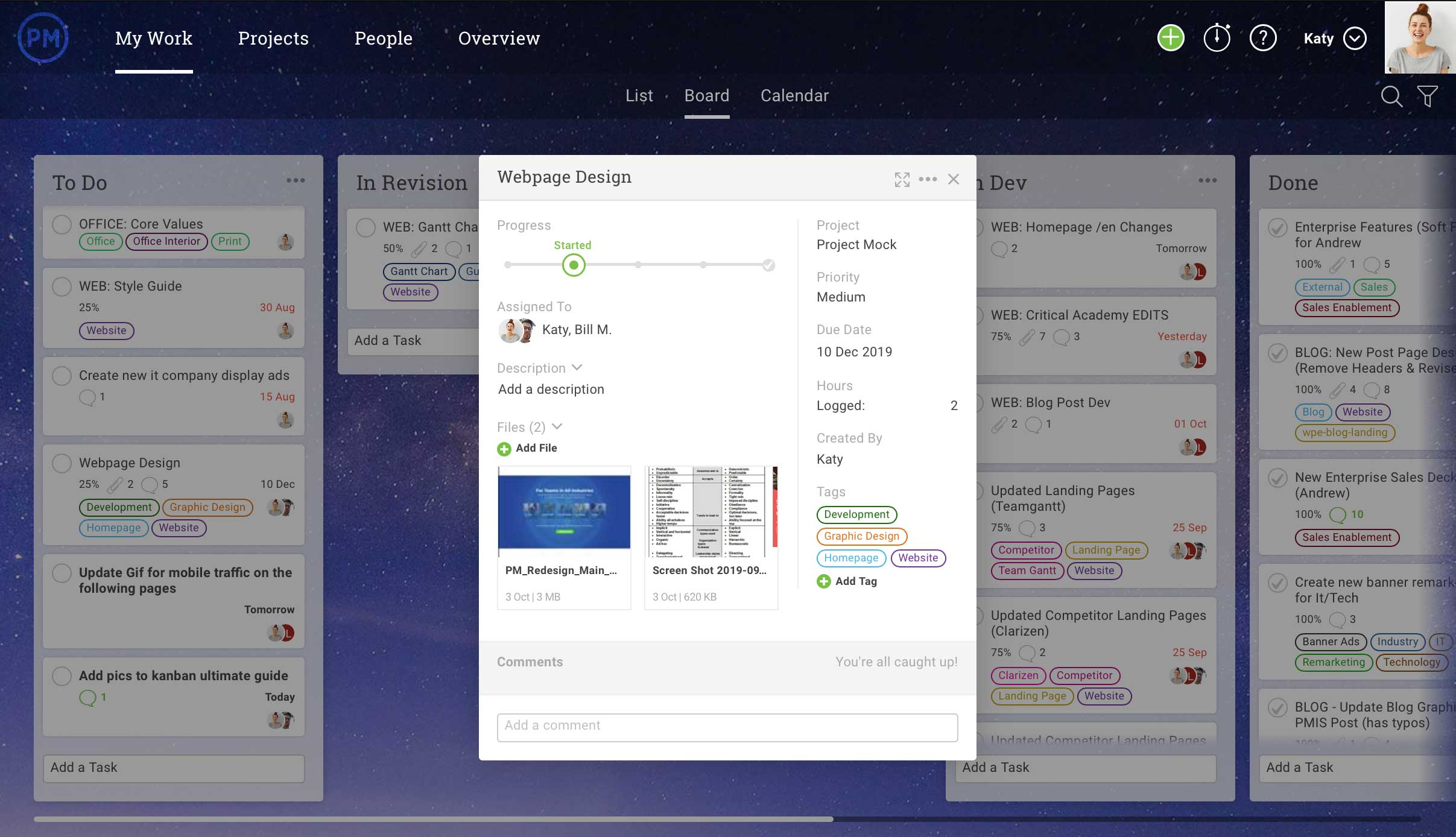 software de placa kanban y gestión de tareas