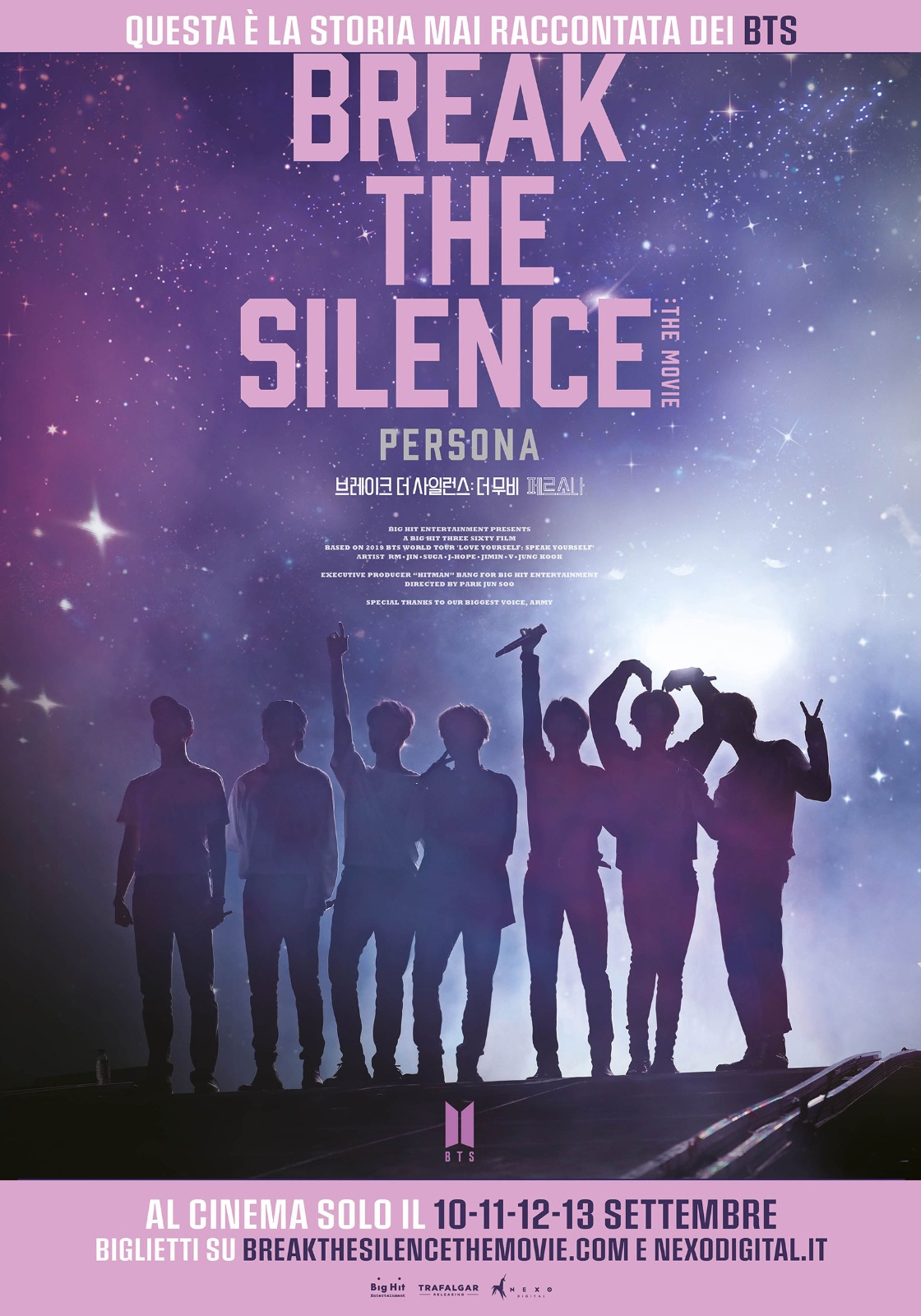 Il nuovo film dei BTS al cinema: BREAK THE SILENCE: THE MOVIE