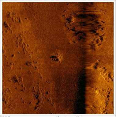 sonar image looking for aiprlanes in palau with bentprop