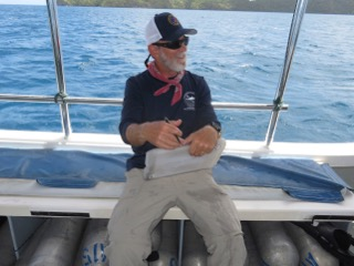 running the deck of dive boat as checklist officer
