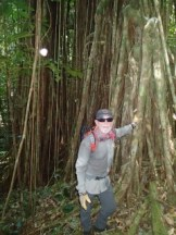 pat scannon of bent prop finding is way through the jungle in palau