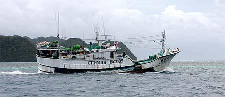 long line fishing vessel in palau