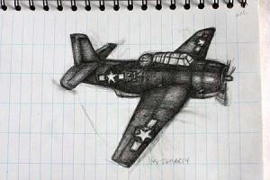 Nell scannon draws her first airplane while in palau with bentprop.org