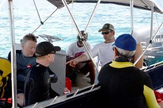 Meeting up with the Scripps and UDEL who were out investigating some SONAR targets.