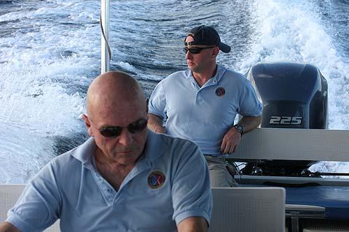 somber ride back home on boat after flag ceremony