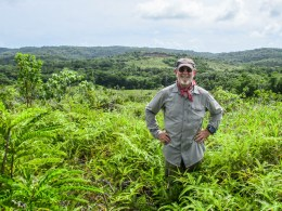 Team Leader Pat Scanon in the jungle while searching for executed WWII MIA and innocents in Palau