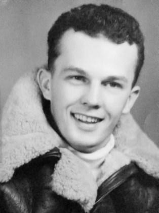 """Albert """"Bud"""" Rybarczyk headshot from WWII TMB 1c Avenger"""