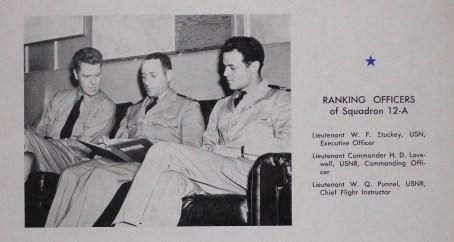 Lieutenant W. Q. Punnell, USNR, far right