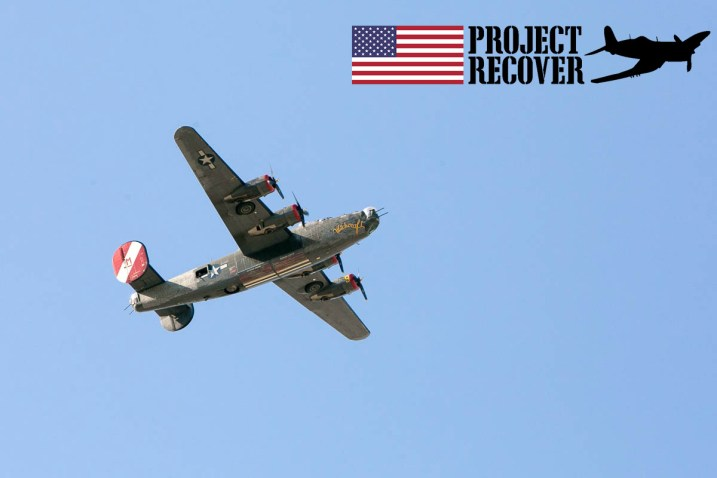 B-24 Flying Over Memorial Day Service For Lt. Thomas Kelly. Photo by Harry Parker Photography