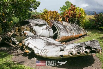 WWII Corsair airplane wreck- Vilu War Museum - Honiara - Nose gunners view Japanese WWII bomber - Vilu War Museum - Honiara - while looking to find Solomon Islands MIAs - Project Recover and BentProp Project are committed to bringing the MIA home. Photos by Harry Parker Photography.com