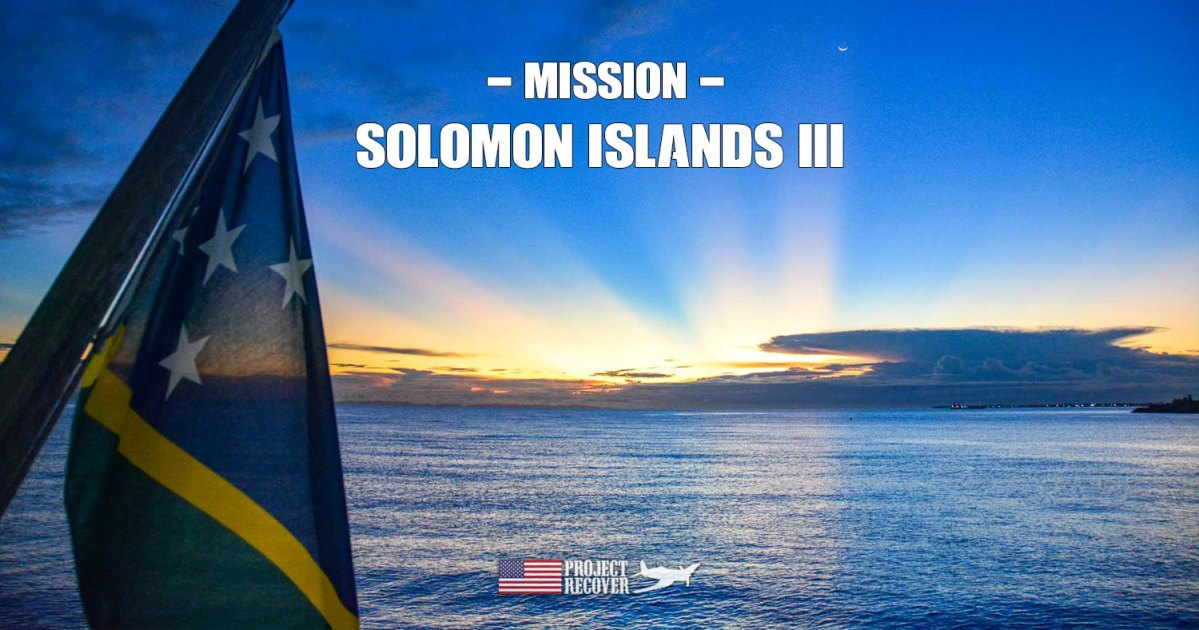 Sunset during Project Recover's Solomons MIA Search - Photo by Ewan Stevenson