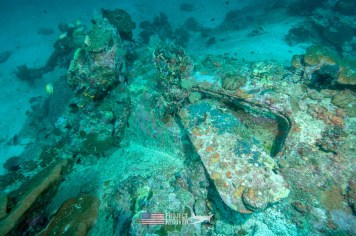 Hatch Cover of WWII B24 Wreck during Solomons MIA Search - Project Recover and BentProp Project are committed to bringing the MIA home. Photo by Ewan Stevenson WWW.ARCHAEHISTORIA.ORG