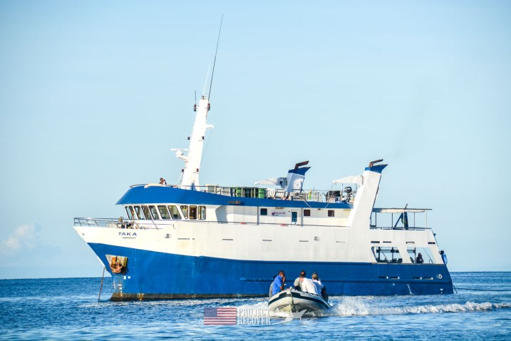 The Taka scuba diving ship we used during Solomons MIA Search - Project Recover and BentProp Project are committed to bringing the MIA home. Photos by Ewan Stevenson WWW.ARCHAEHISTORIA.ORG
