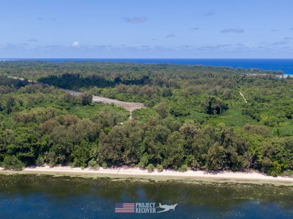 Aerial photo of Orange Beach, Peleliu.