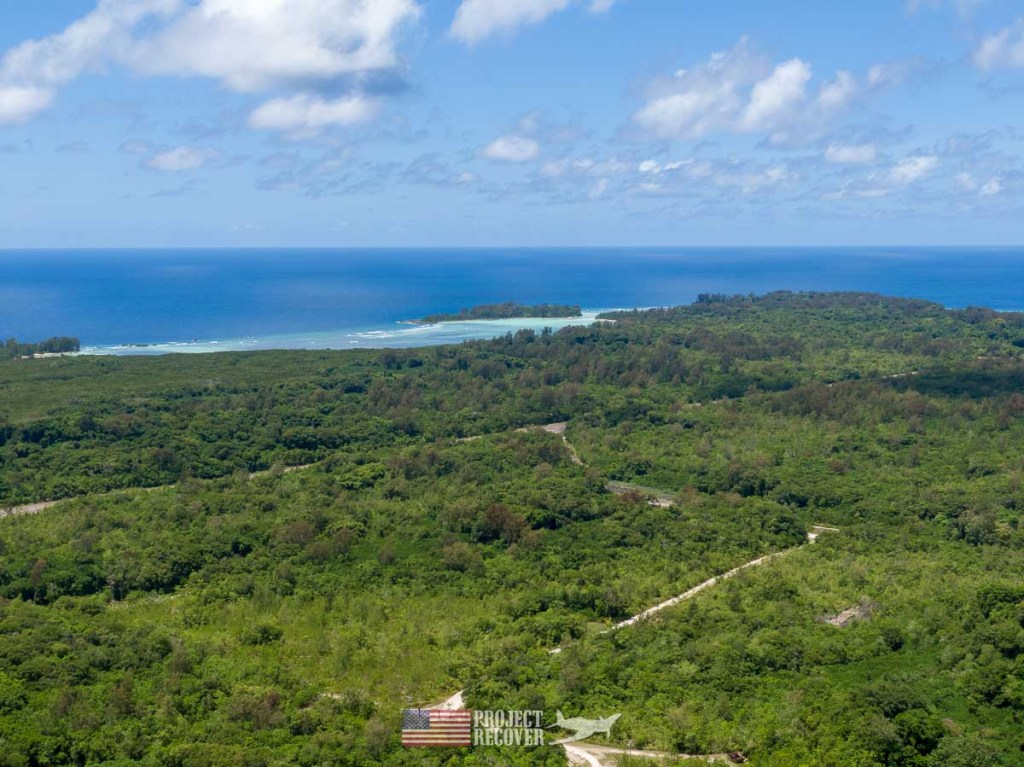 Aerial view of Peleliu Island.
