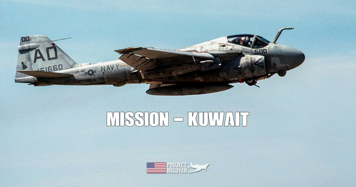 Image of A-6E in flight. Project Recover Searches for MIA in Kuwait