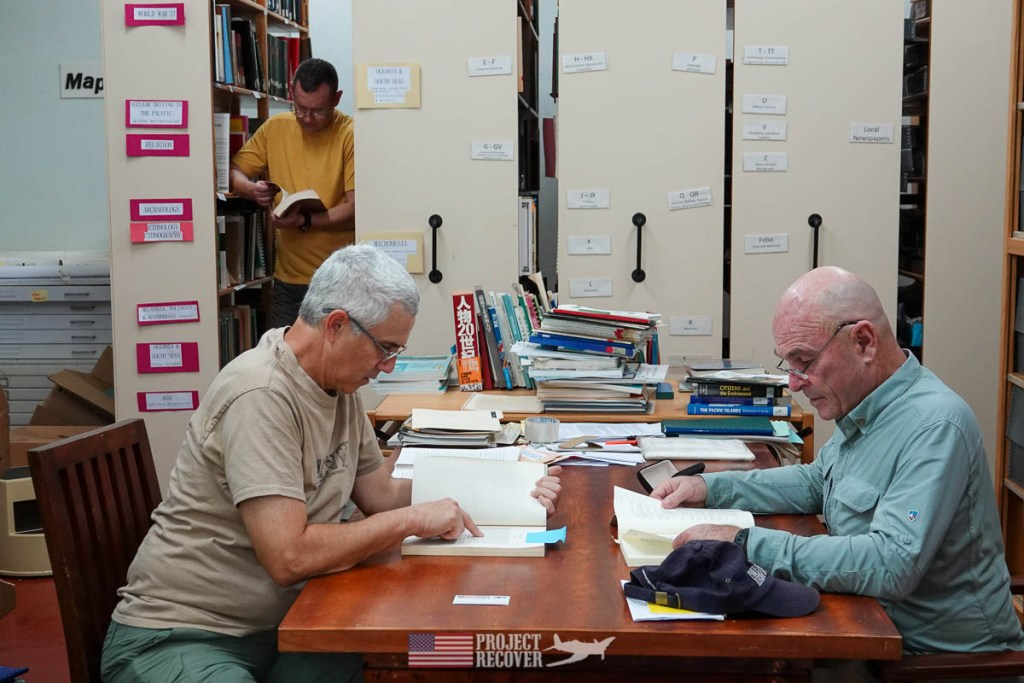 researching in the palau library
