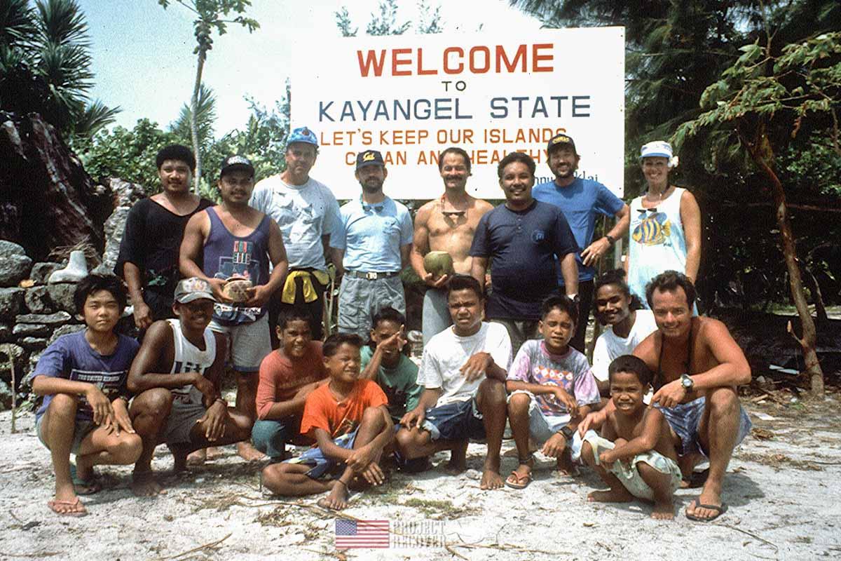 President GHW Bush trawler dive team