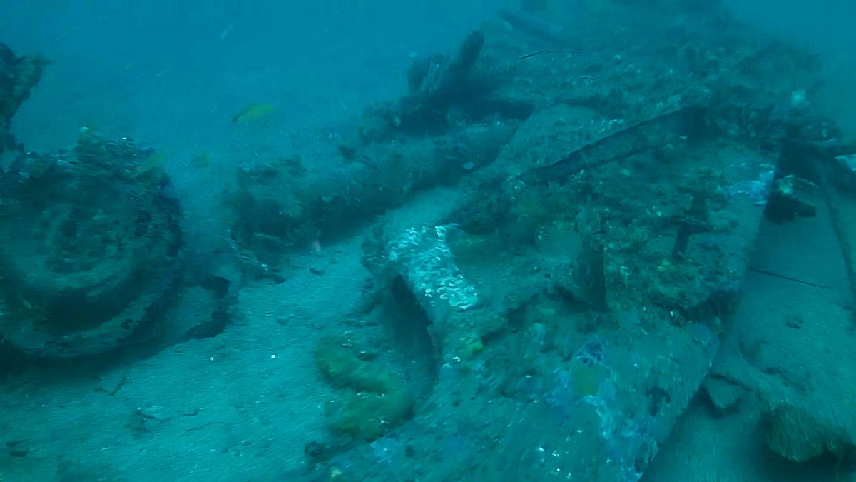 Heaven Can Wait B-24 underwater Wreckage