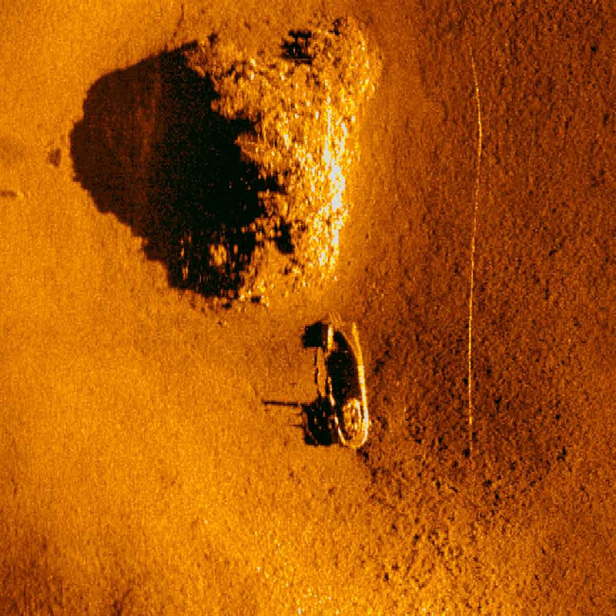 Sonar Image of Japanese Landing Craft Truk Lagoon