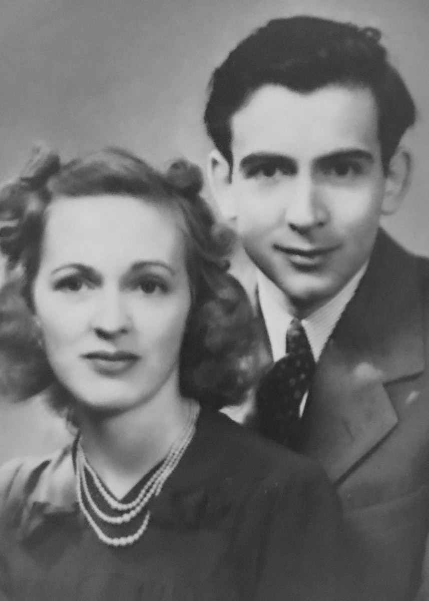 WWII Photo SSgt Eugene Darrigan and wife