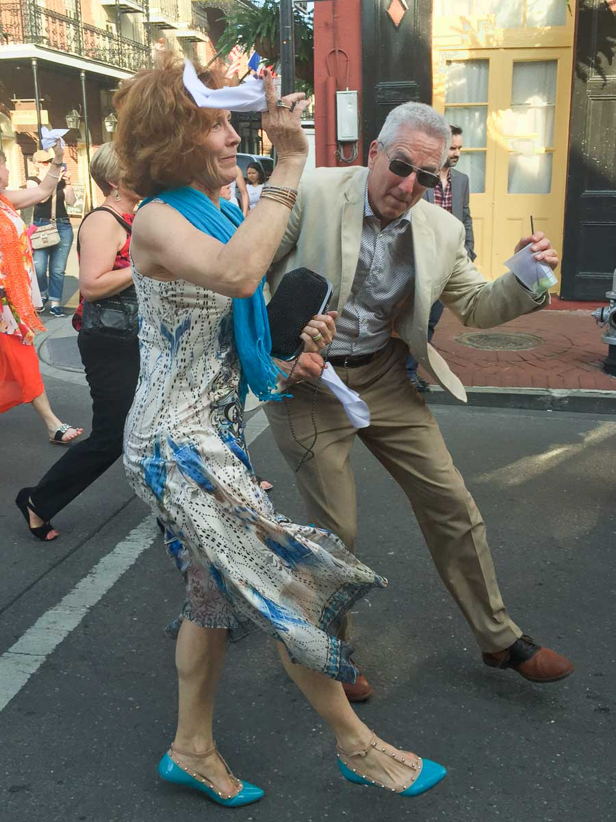 Flip and Rebecca Colmer Dancing in the streets