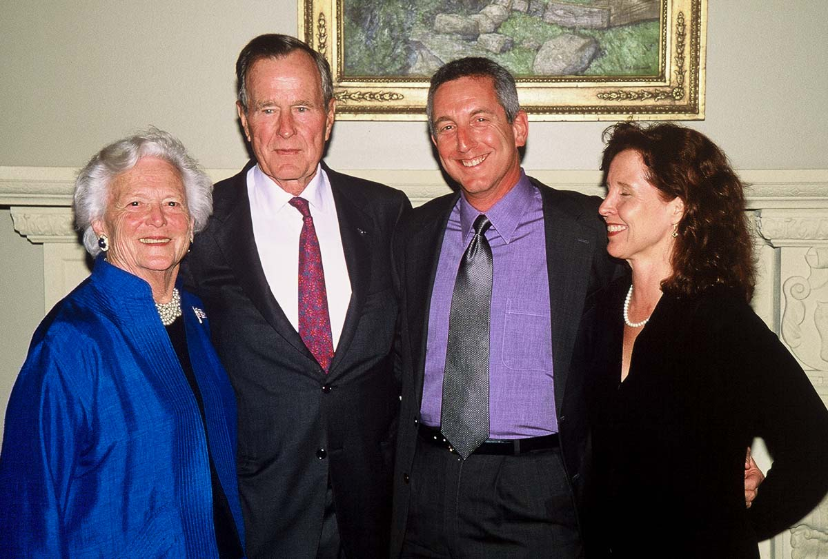 Group Shot with President Bush Senior and Flip Colmer of Project Recover