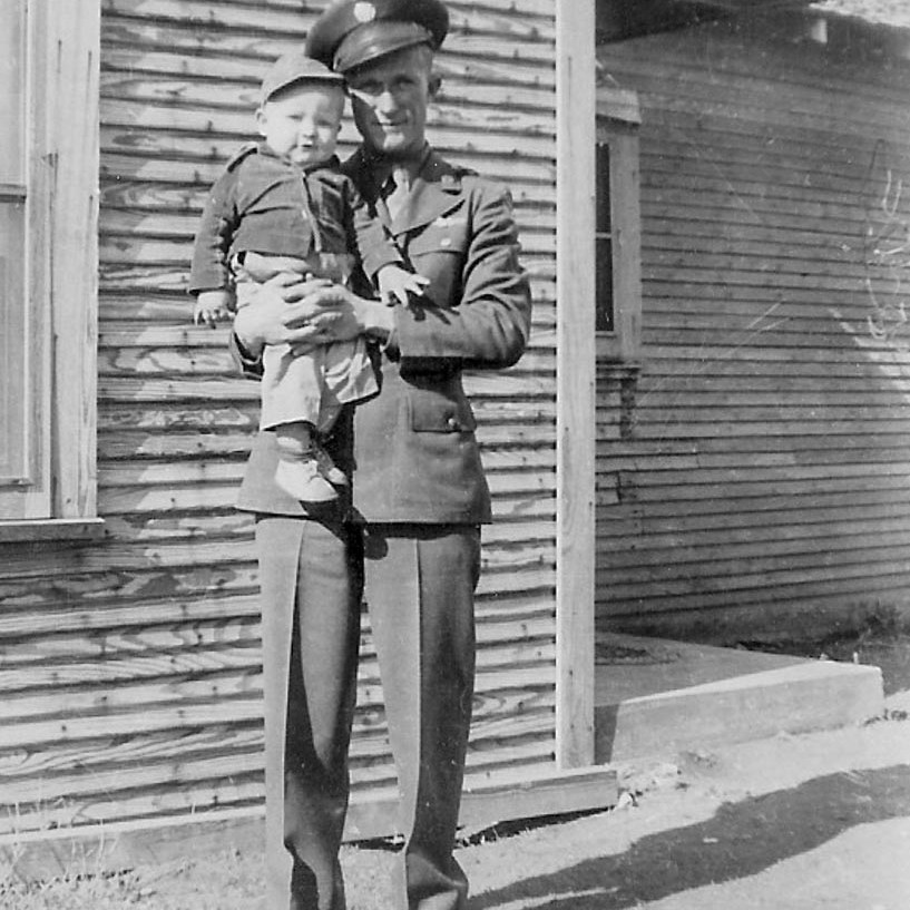 SSgt. Jimmie Doyle with Son