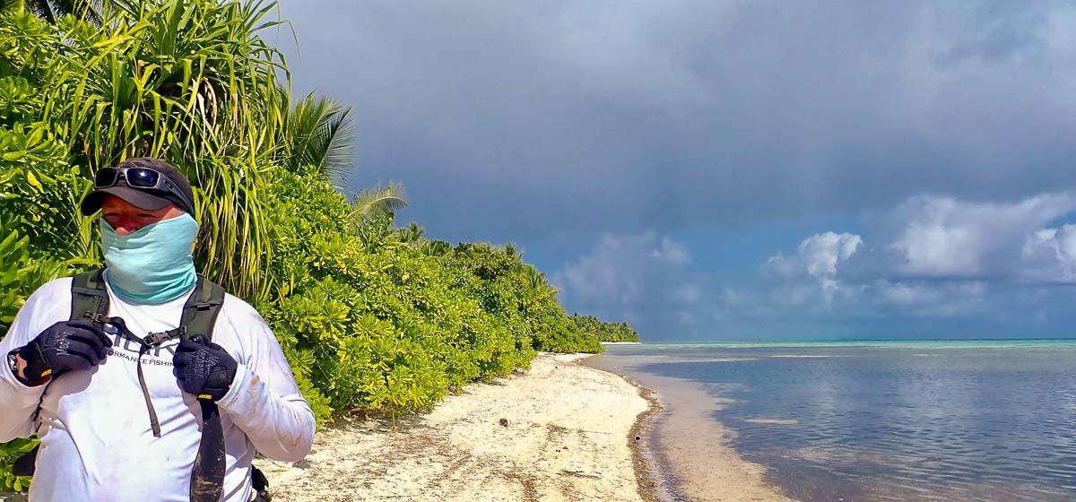 Colin Colbourn hiking Chuuk Island