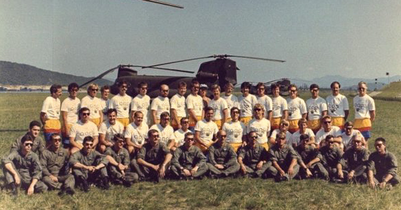 Seoul Olympic Skydiving Exhibition Team,1988