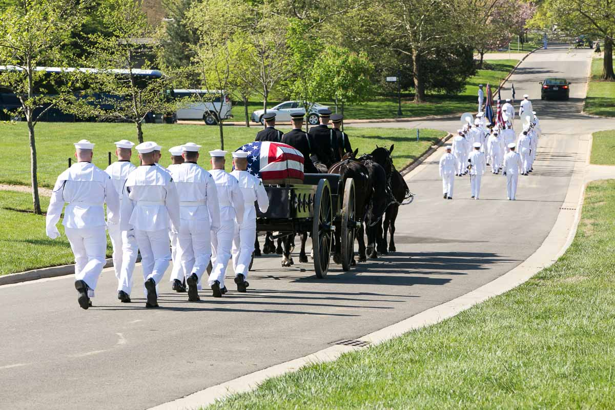 Honor Guard with Caisson at Arlington Heads to Burial
