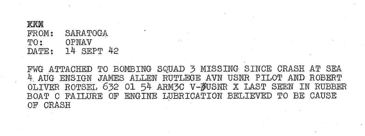 Casualty File Message