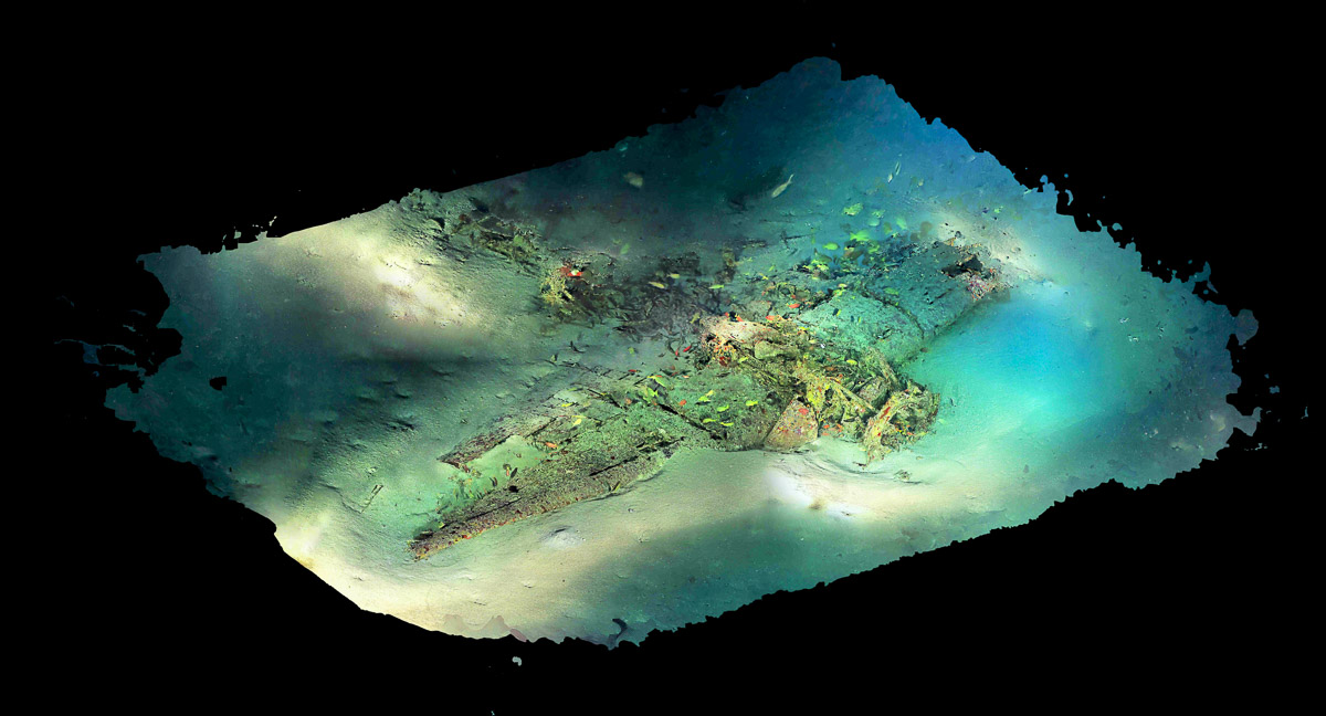 Oahu TBF Grumman Photomosaic - The Science Behind the Search for MIAs