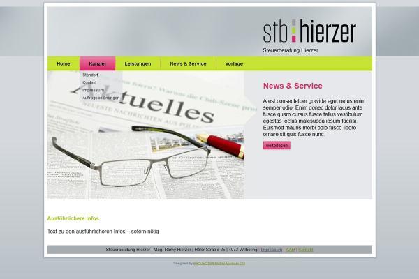 WebDesign Steuerberatung Romy Hierzer