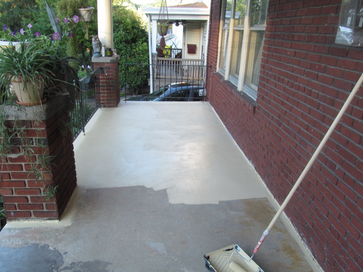 Porch Redesign Painting Concrete Porch Or Patio